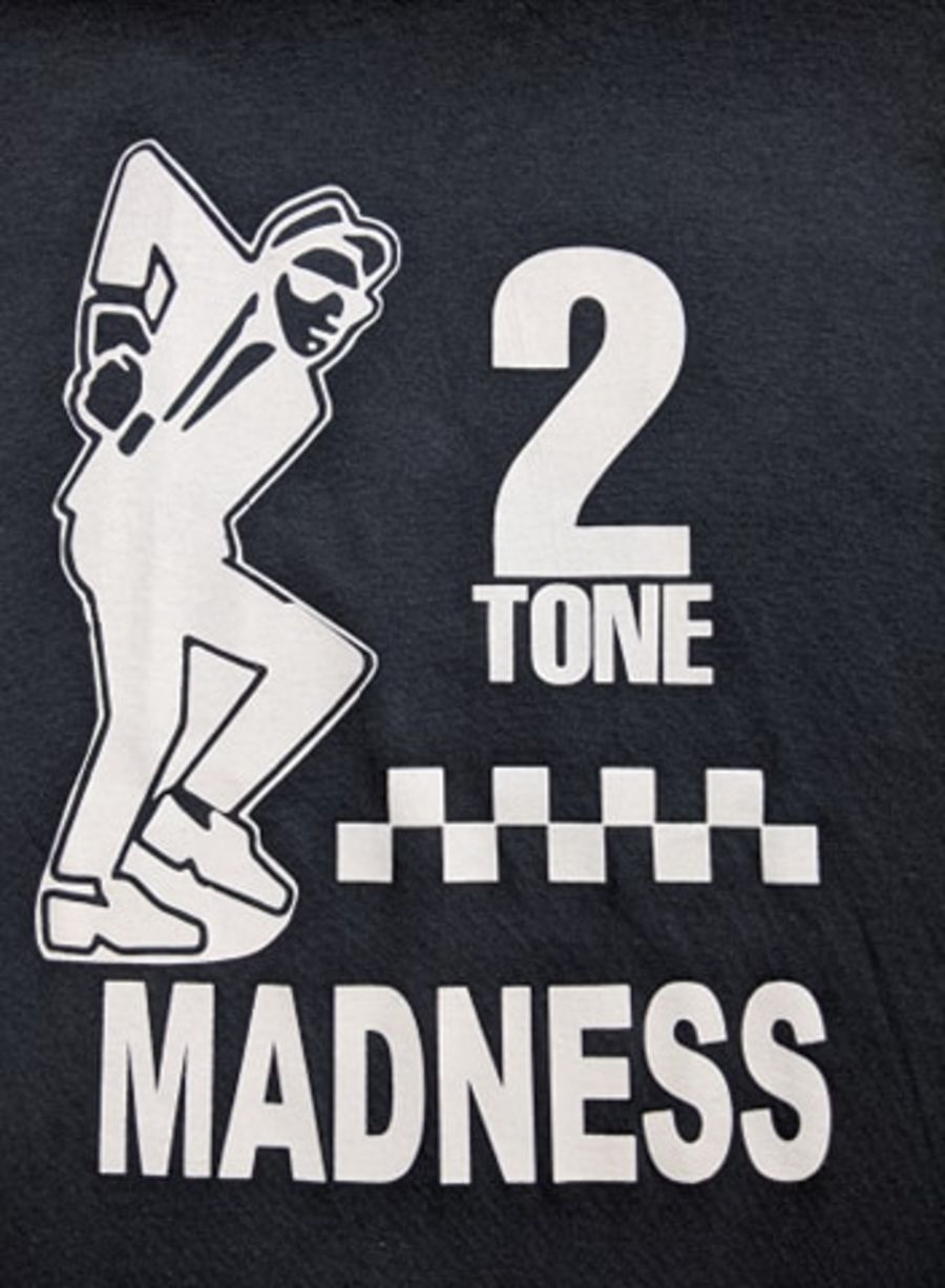 Vintage Madness with 2 Tone logo  black T-shirt