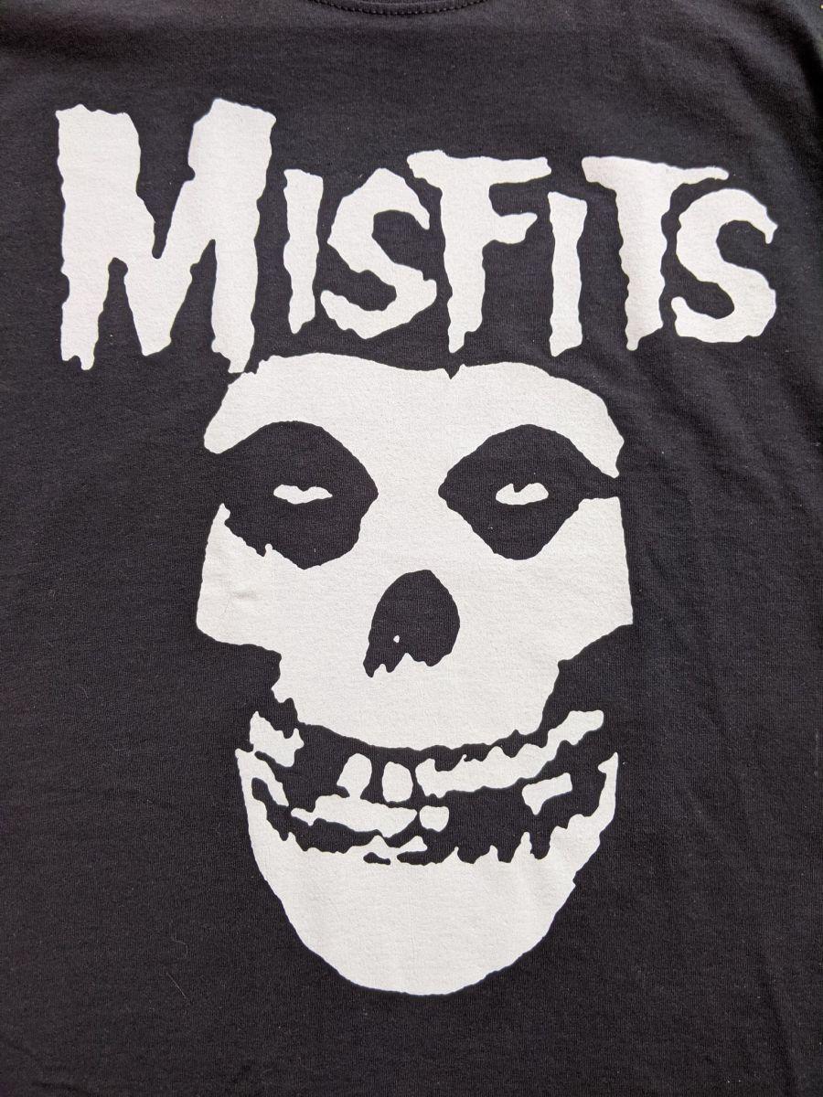 Vintage Misfits classic black skull logo T-shirt
