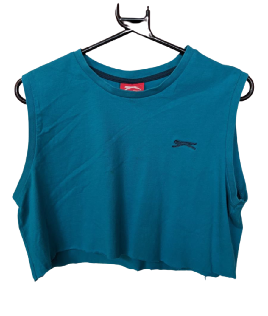 Vintage Slazenger Turquoise Sports Crop Top