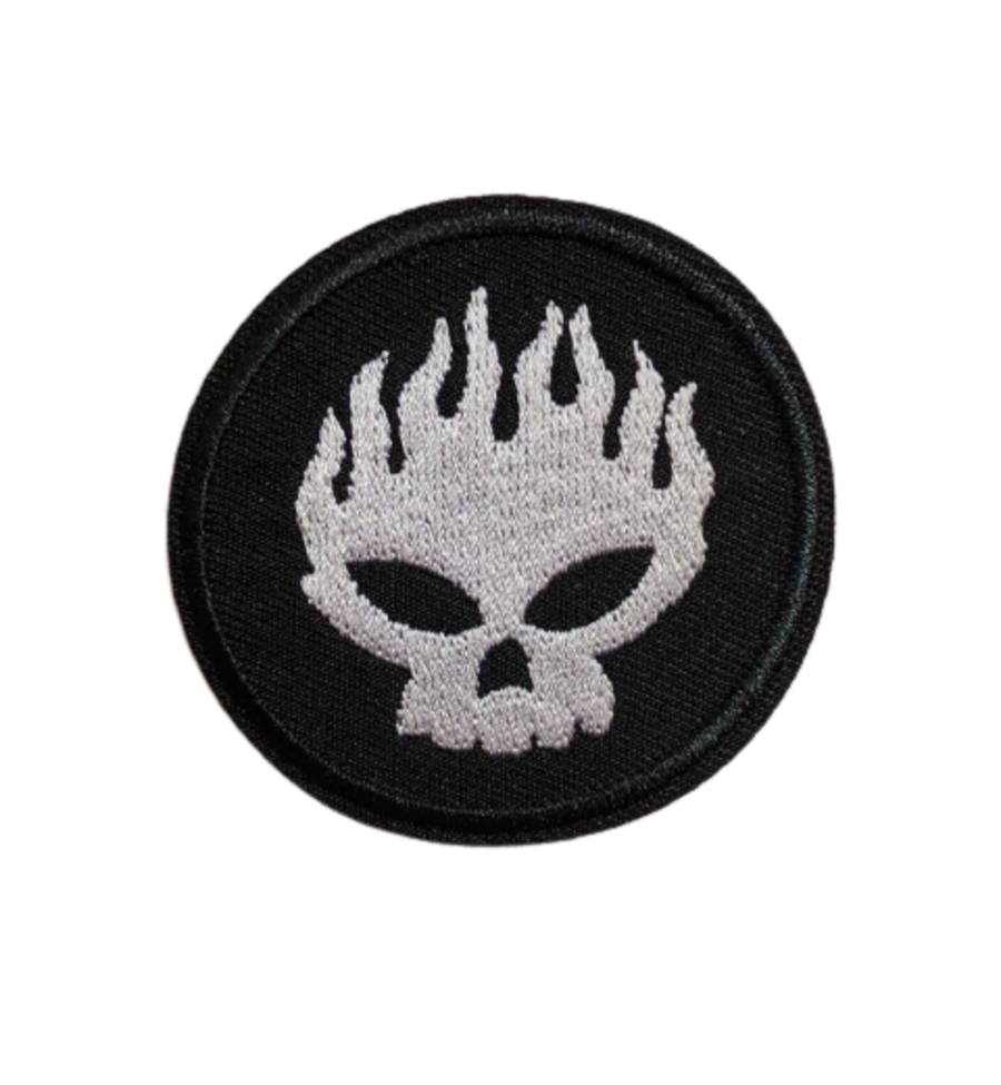 Offspring Flaming Skull Iron On Patch
