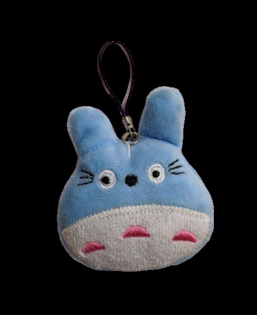 Cute Cuddly My Neighbor Totoro Blue Plushie Keyring.