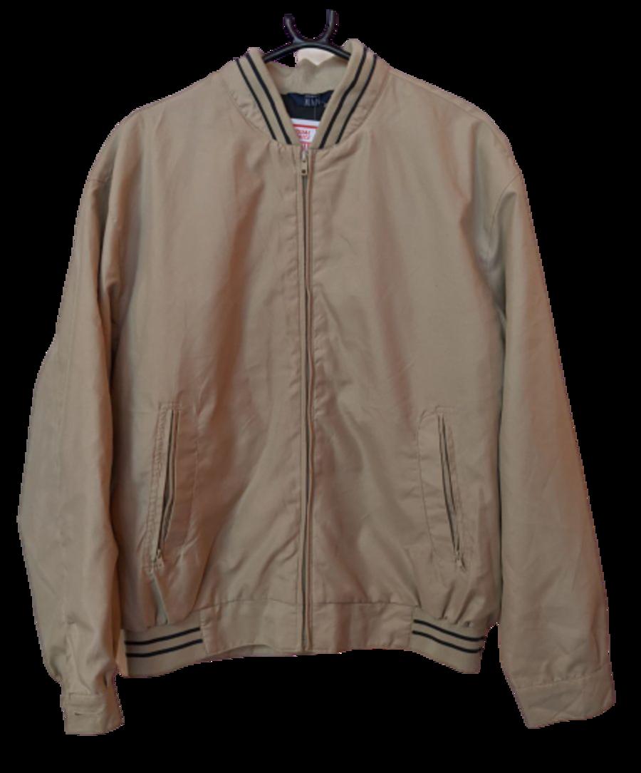 Vintage 90's Cream Harrington Style Bomber Jacket