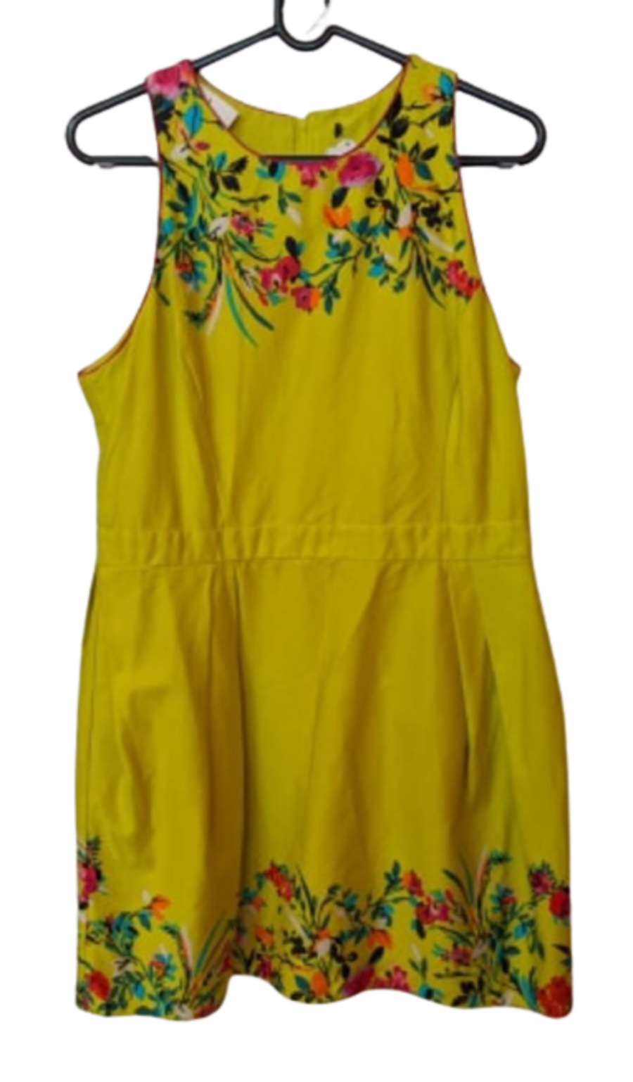 Vintage Lime Green Floral Swing Dress