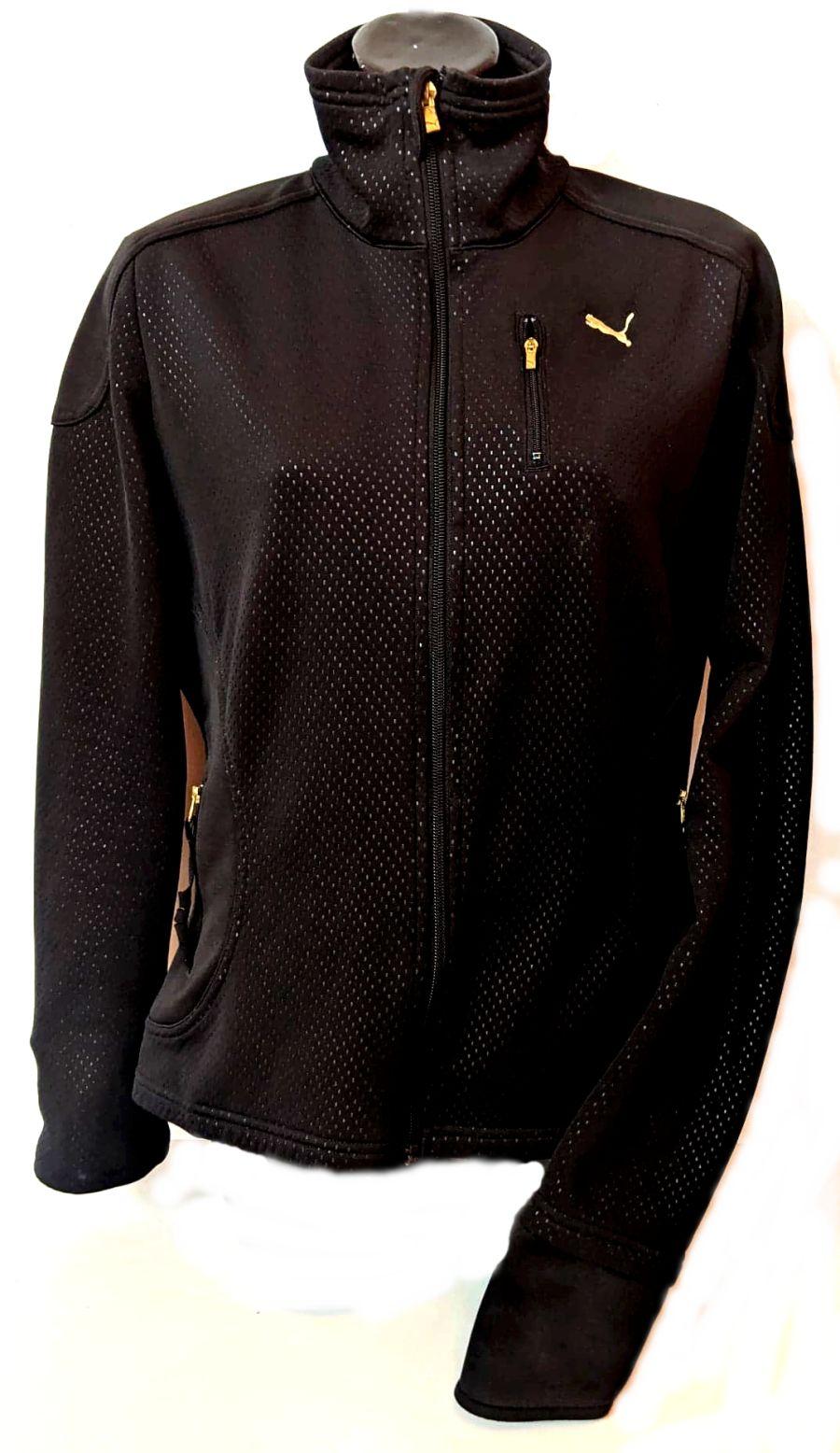 Vintage 1990's Black and Gold Puma Tracksuit Jacket