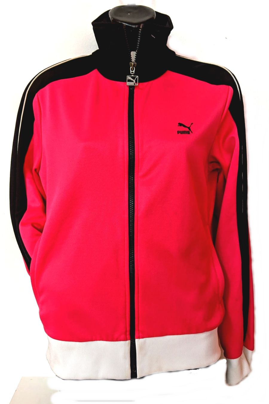 Vintage Y2K Black and Pink Puma Tracksuit Jacket