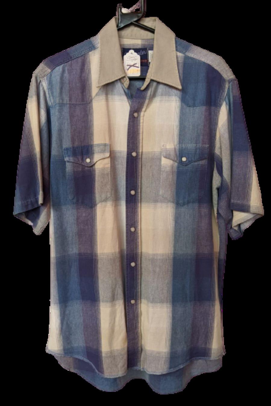 Vintage 1990's Wrangler Blue Flannel Shirt