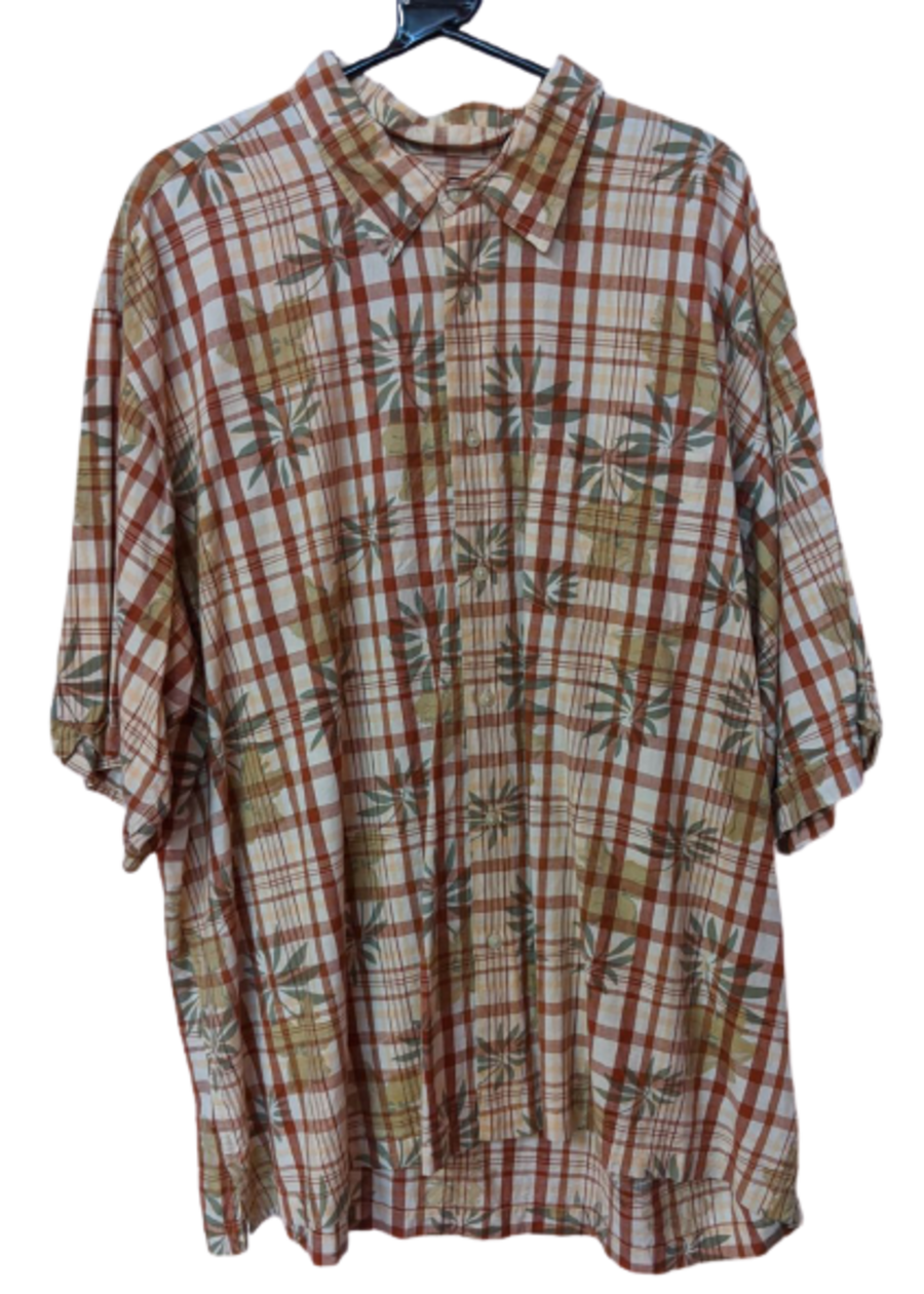 Vintage 90s Orangey Patterned Shirt