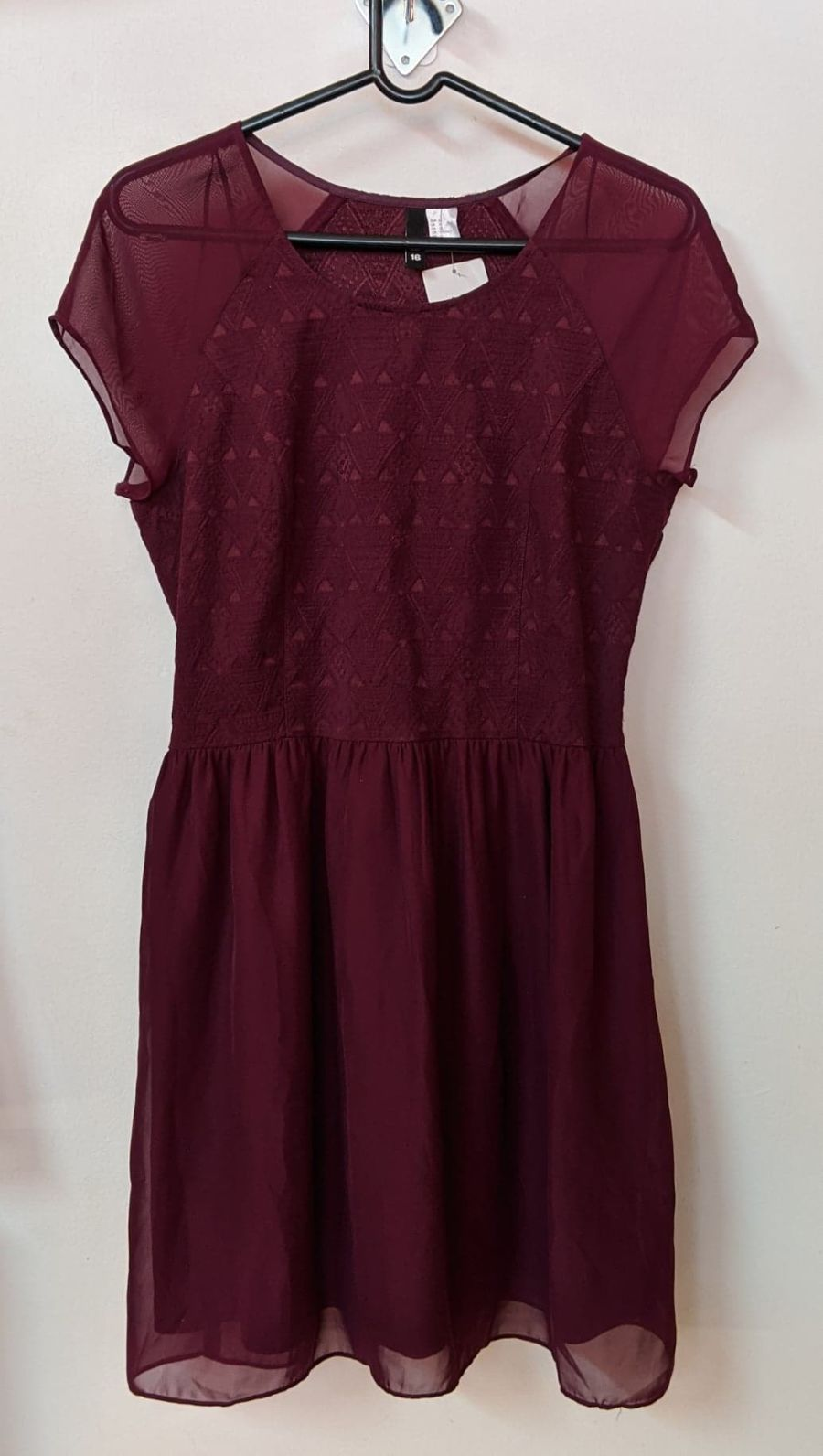 Vintage Purple H&M Shear Pattern Dress