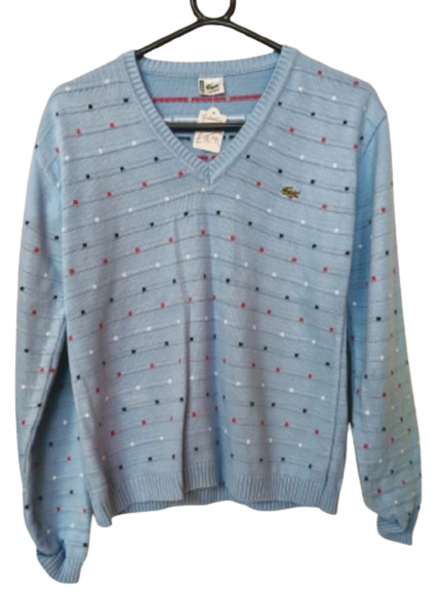 Vintage 1990's Baby Blue Lacoste Womens Jumper
