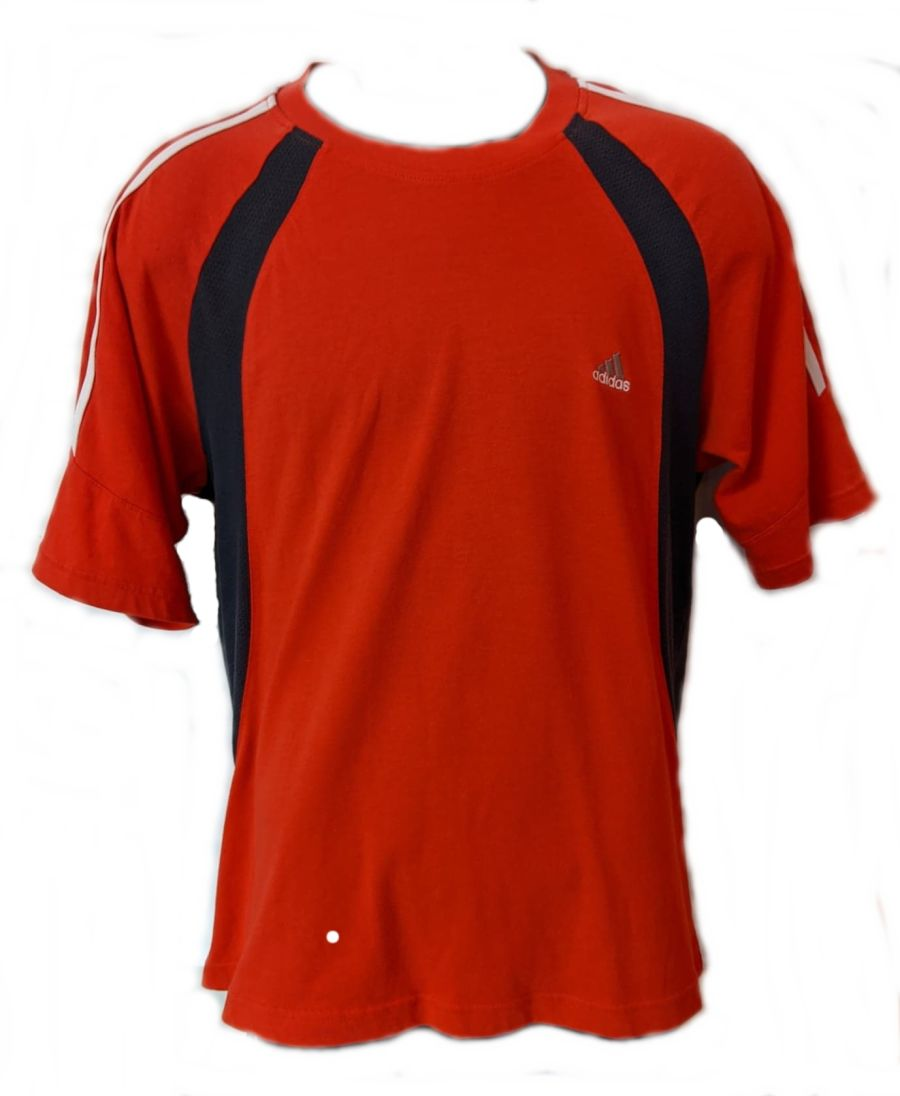 Vintage Y2K Red and Black Adidas Sports T