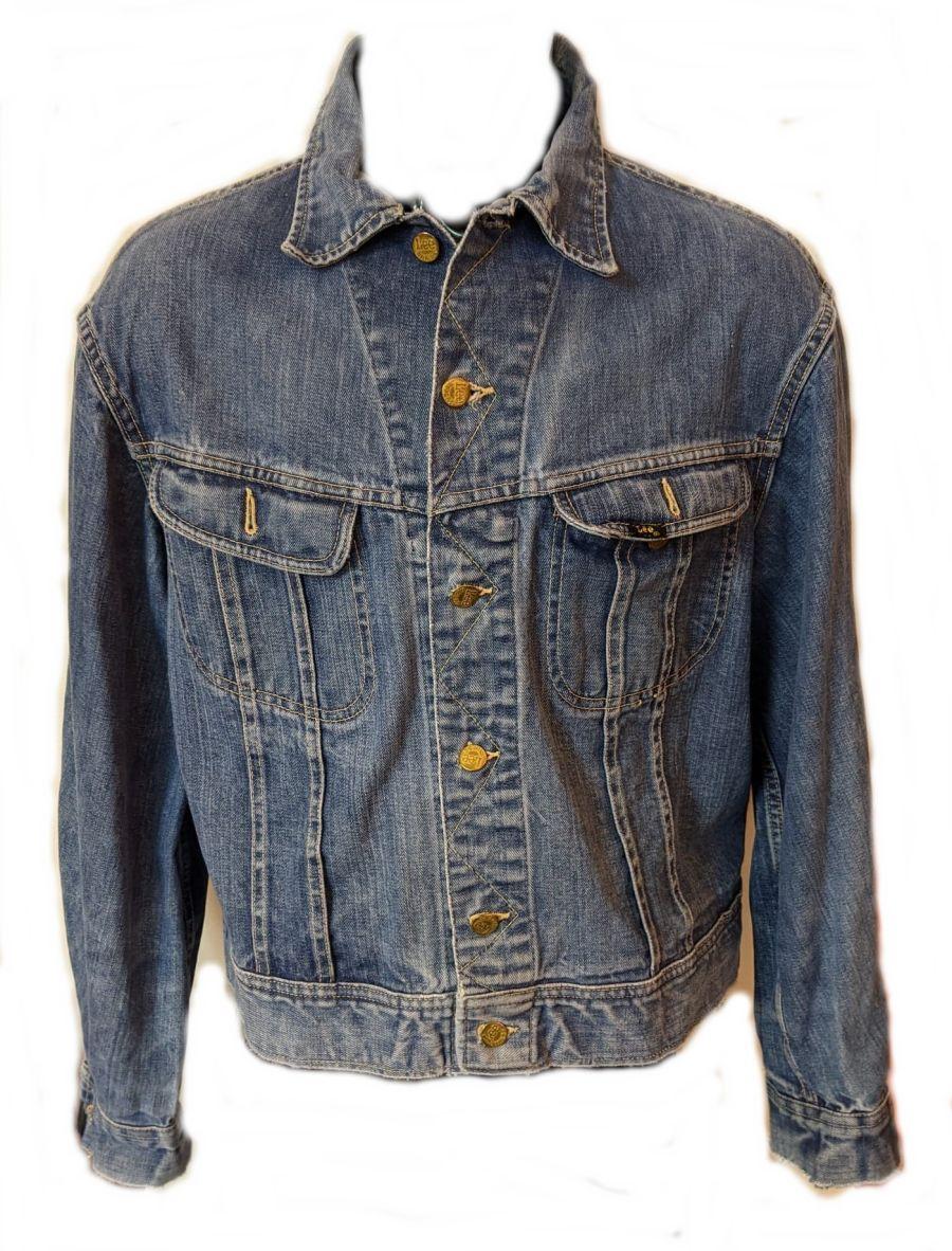 Vintage 1990's Lee Scuffed Light Blue Denim Jacket