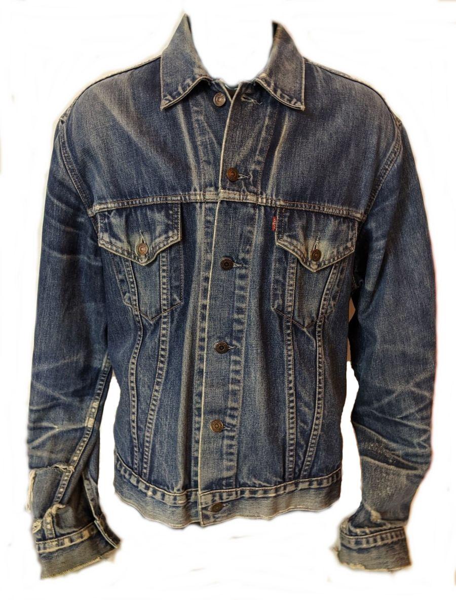 Vintage Levi Scuffed Blue Denim Jacket