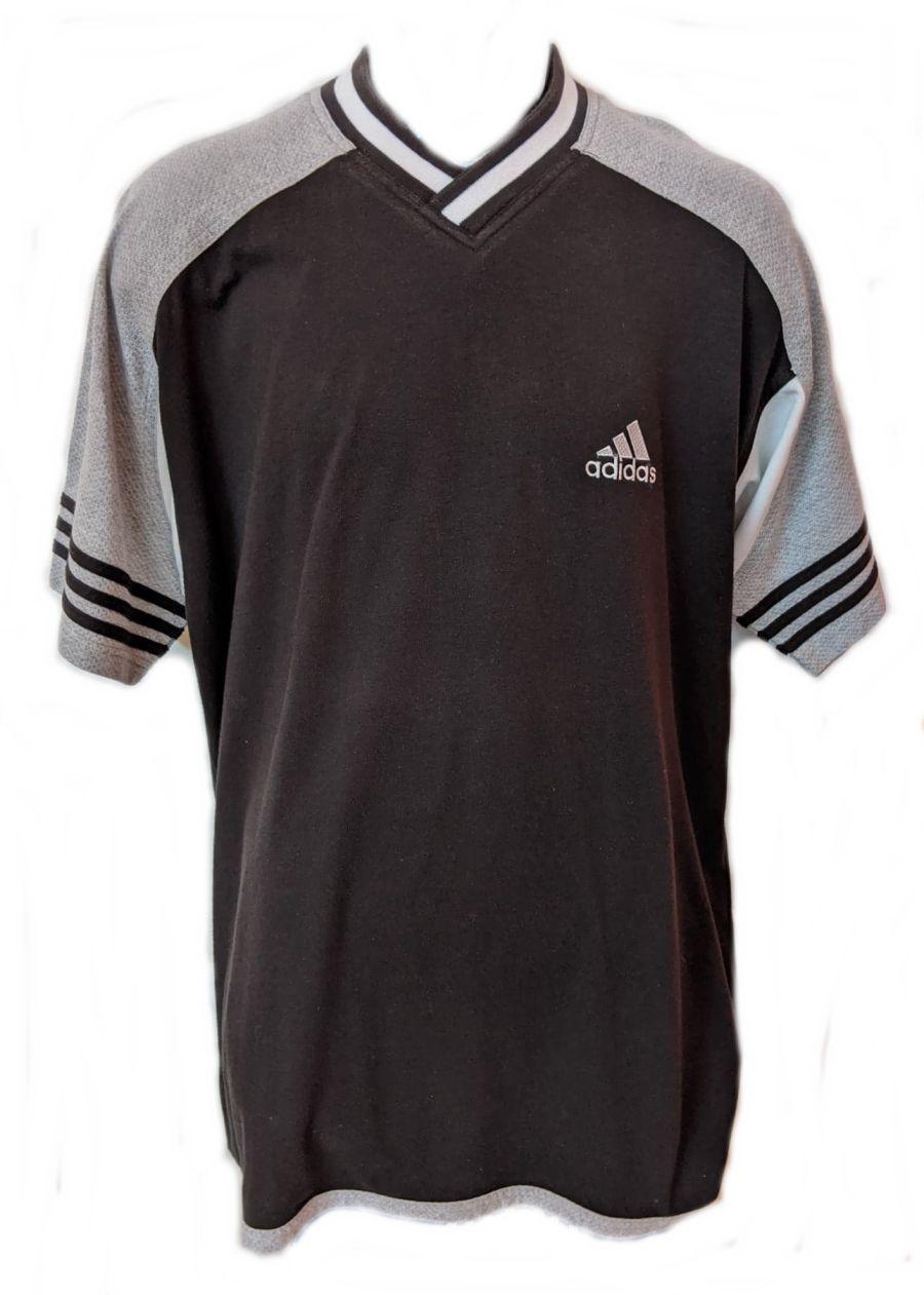 Vintage 90s Black Adidas Short Sleeve Sports T