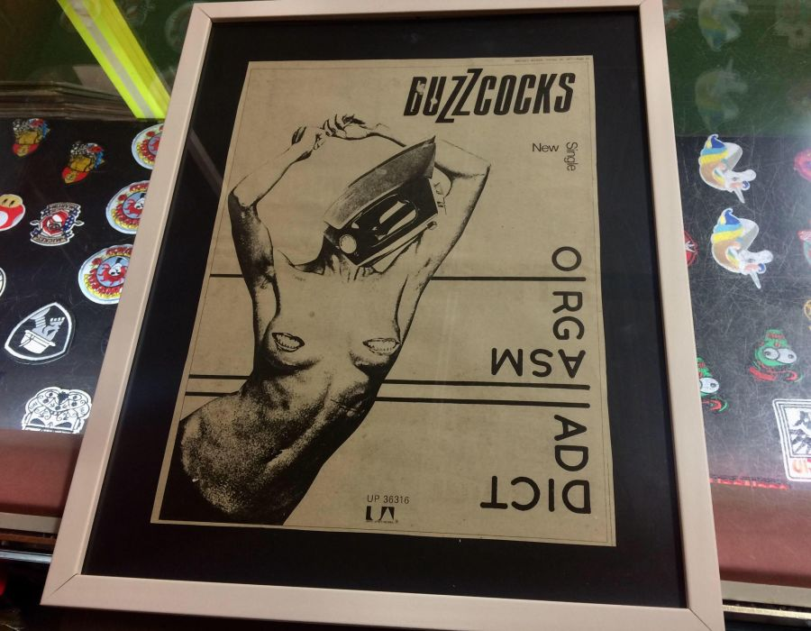 Framed Original Buzzcocks Advert from The Melody Maker