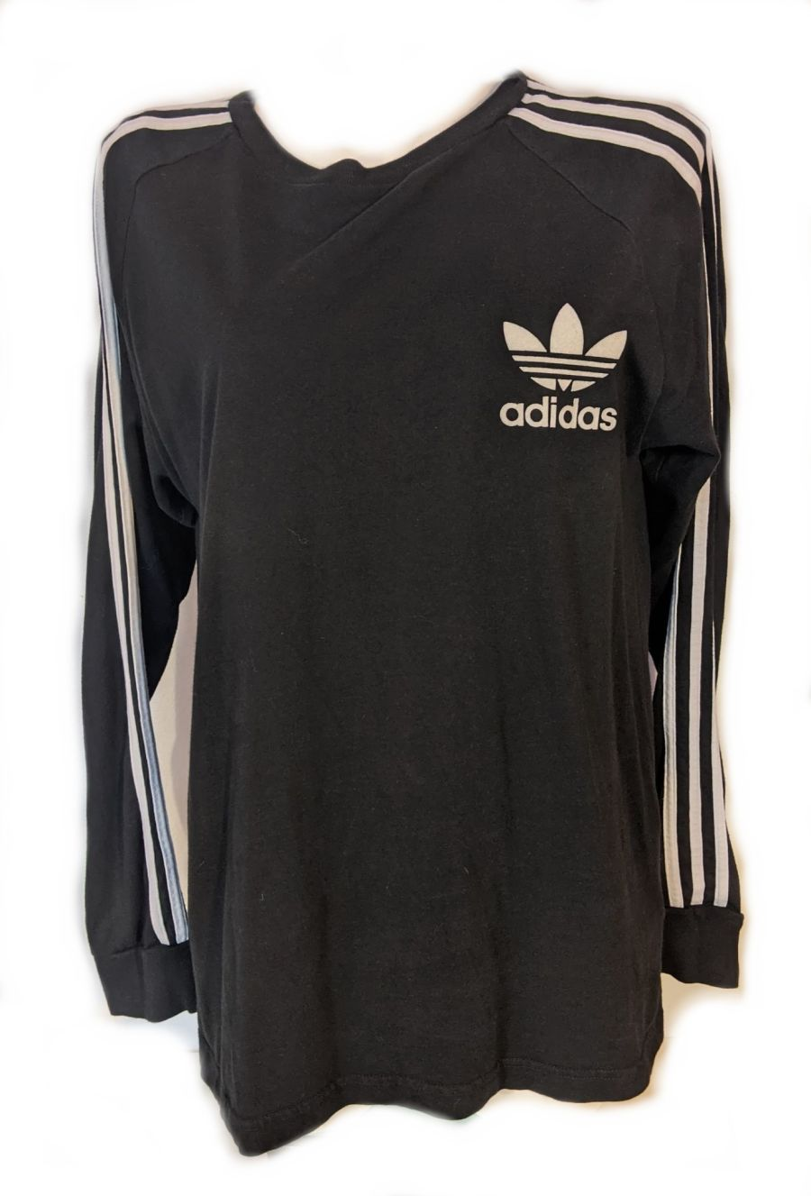 Vintage y2k Classic Adidas Logo Long Sleeve Sports Top
