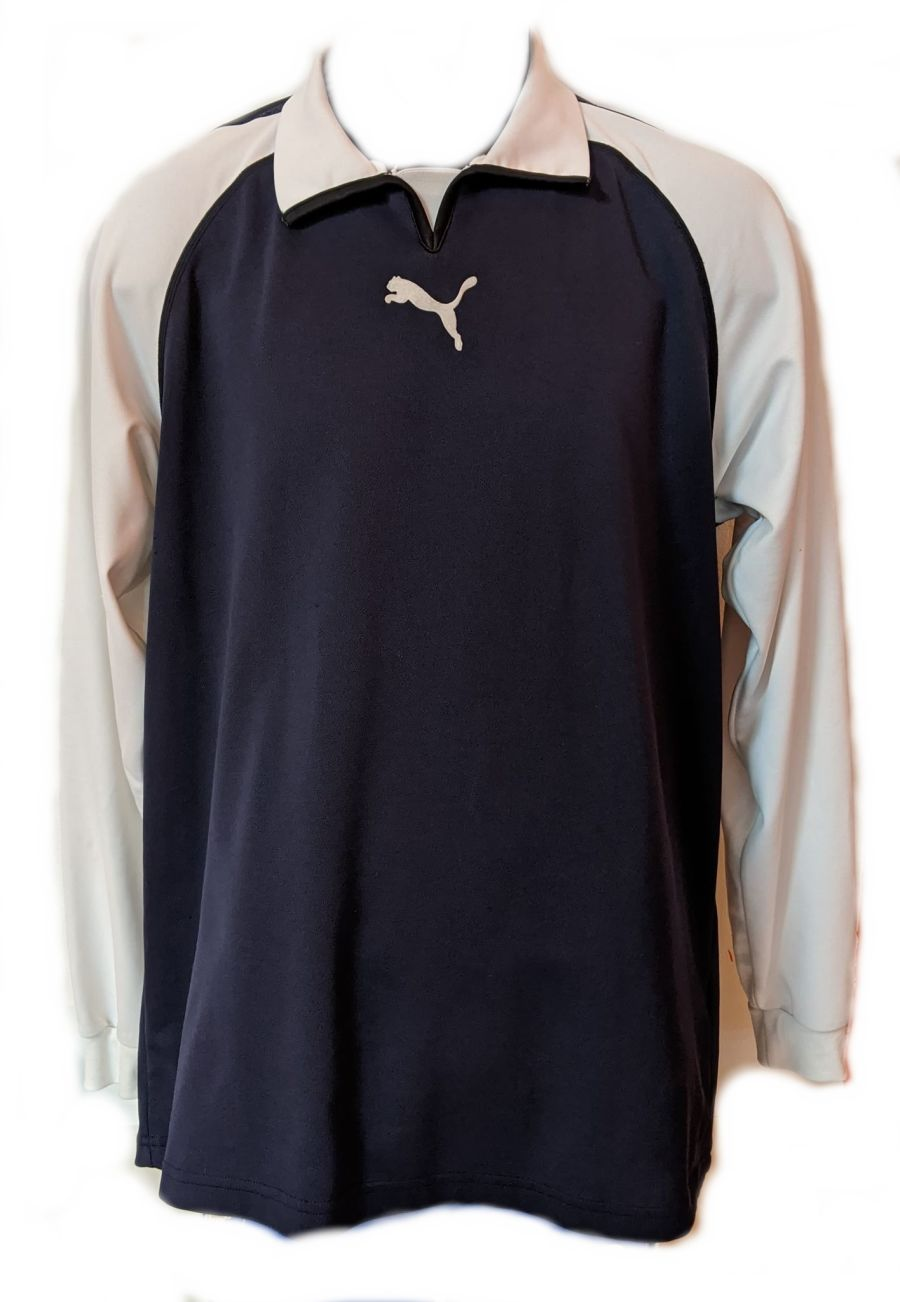 Vintage Y2K Puma blue long sleeve sports t-shirt