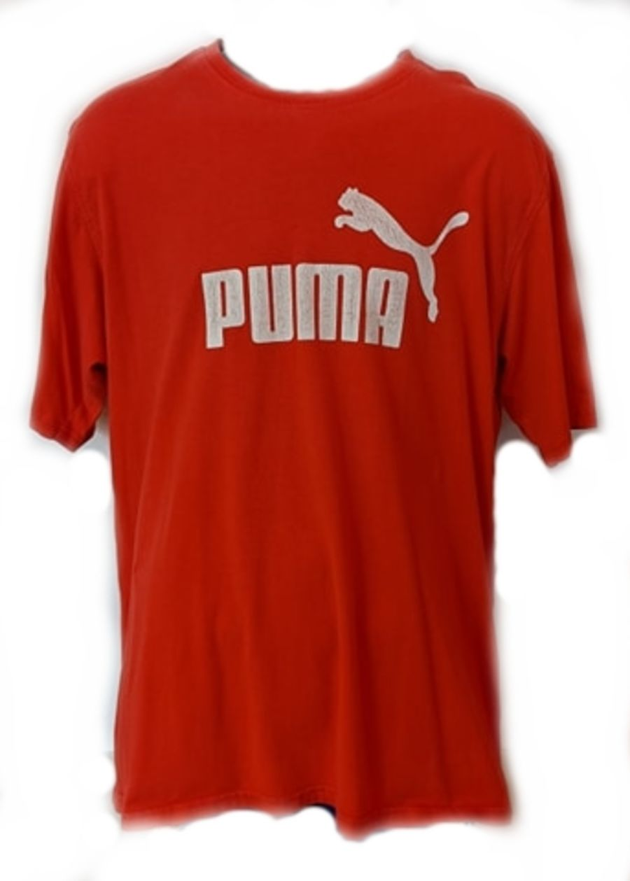 Vintage Red Puma Classic Logo Sports T-Shirt