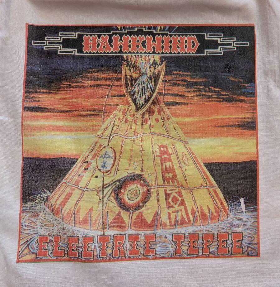 Vintage Hawkwind Electric Tepee Print Reusable Tote Bag