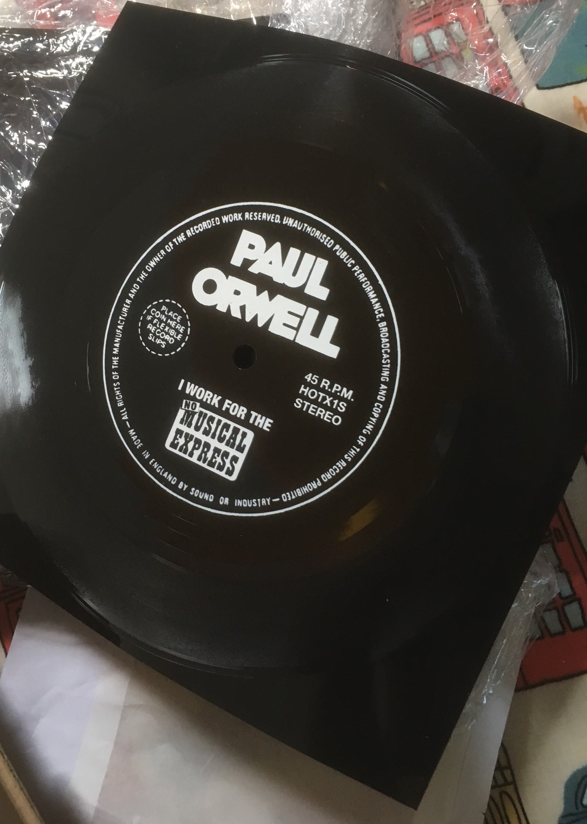 PAUL ORWELL I Work For The NME flexi