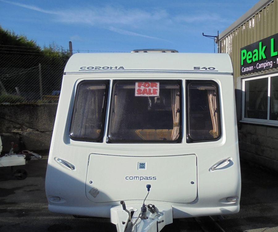 Compass Corona 540 4 Berth Fixed Transverse Bed Caravan - 2006