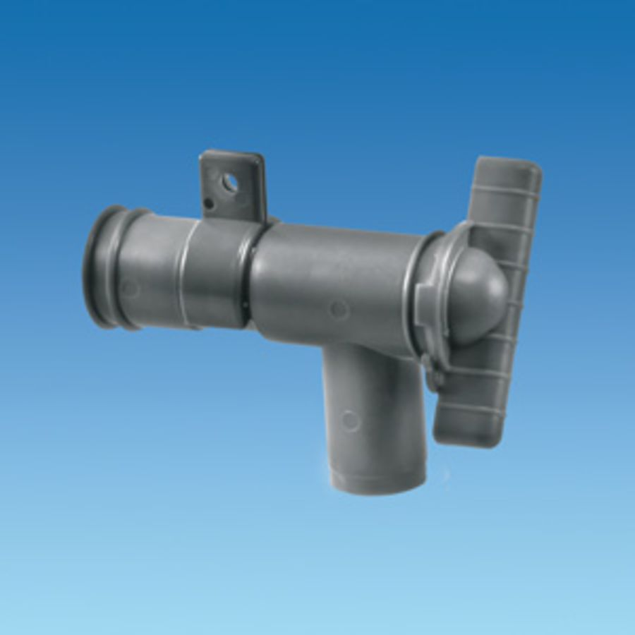 28mm Drain Tap - Waste Water - Grey