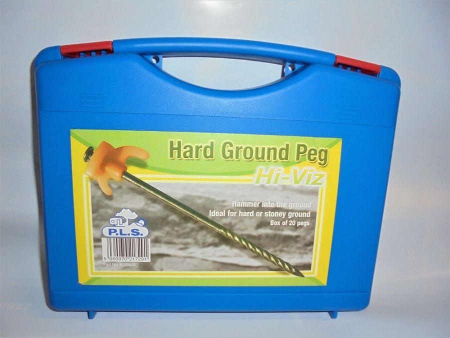 PLS  Hi-Viz Hard Ground Pegs - Box of 20