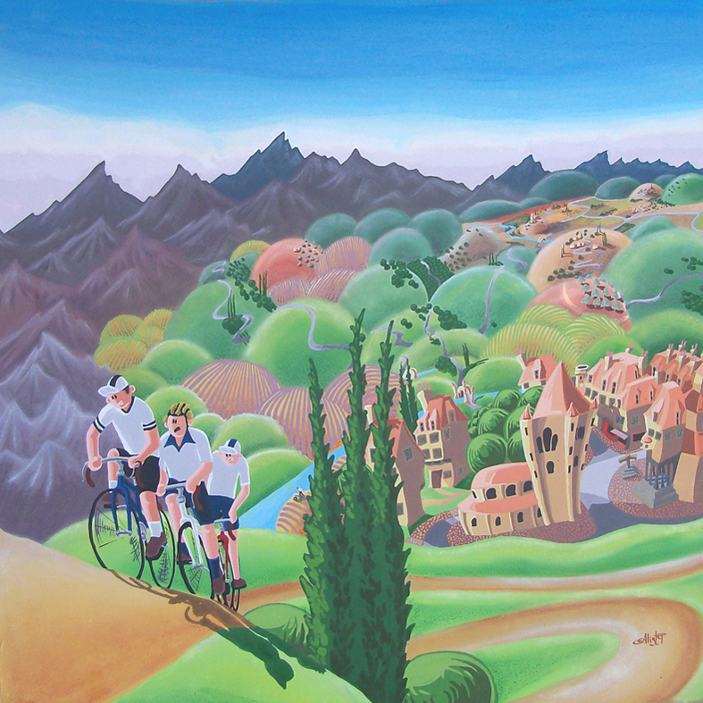 The Cyclists and the Hill