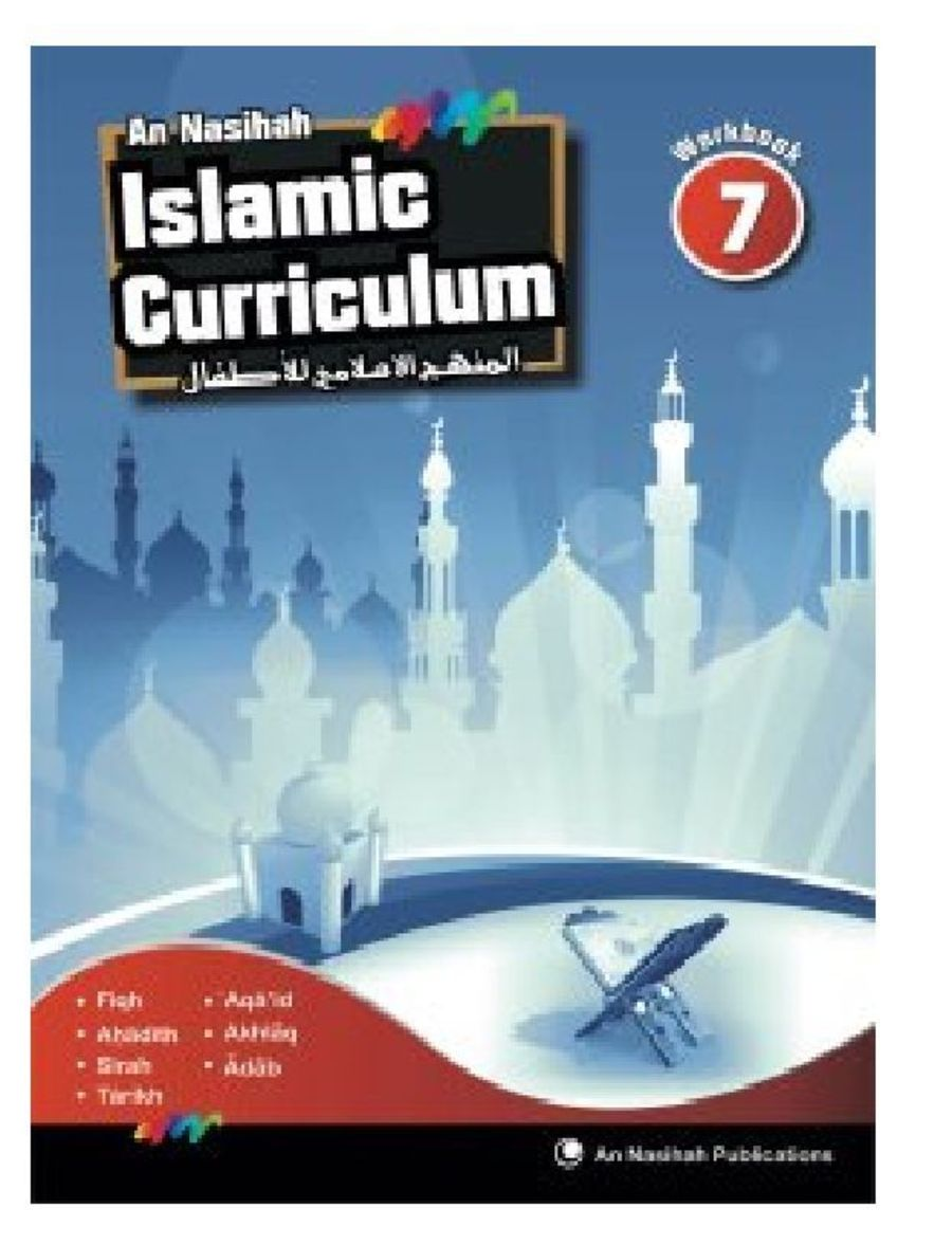 An Nasihah Islamic Curriculum book 7 Islamic Studies (Work Book)