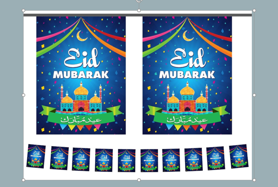 EID MUBARAK PARTY FLAGS (CONFETTI)