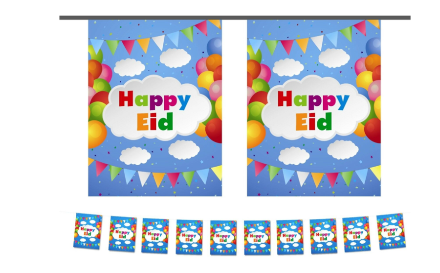 HAPPY EID PARTY FLAGS (CLOUDS)