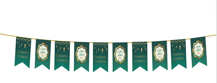 Ramadan Mubarak Flags (Green/Gold) 2020