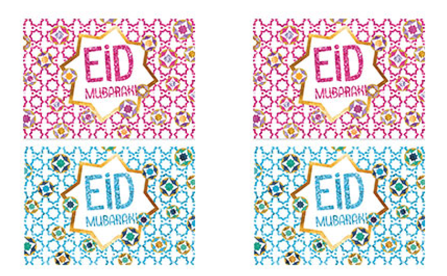 Eidi Eid Mubarak Money wallet envelopes