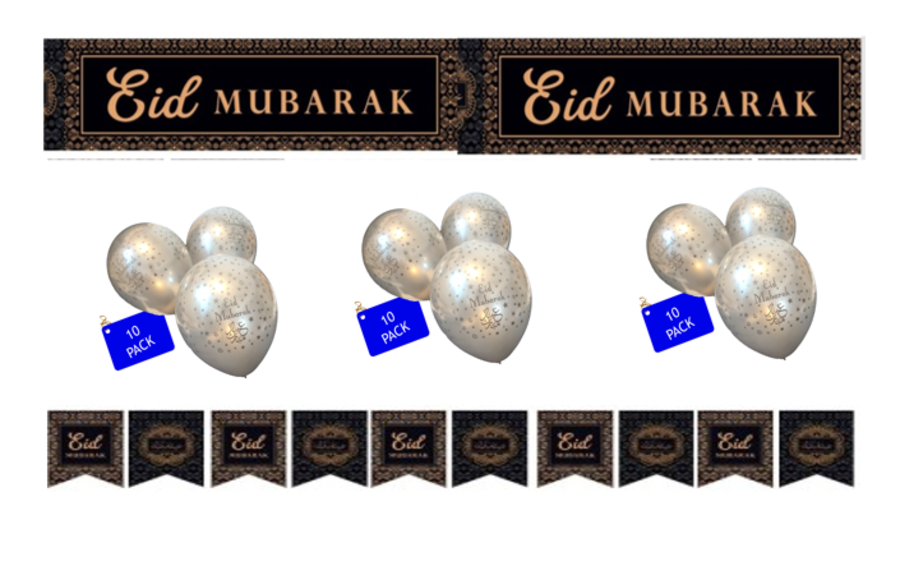 21pc-Jumbo Set 3 (Eid Mubarak Blk-Gold)