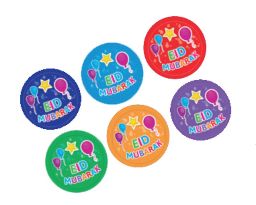 EID MUBARAK BADGES (BALLOONS/STAR
