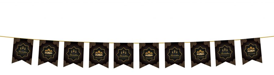 Ramadan Mubarak Flags (Black/Gold) 2020