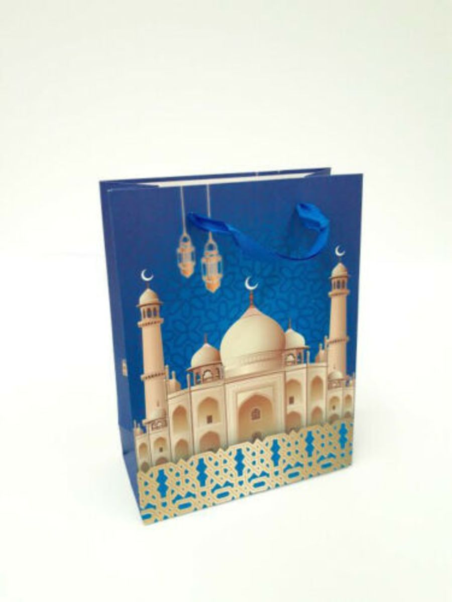 Gift Bag Mosque Design Small (Blue