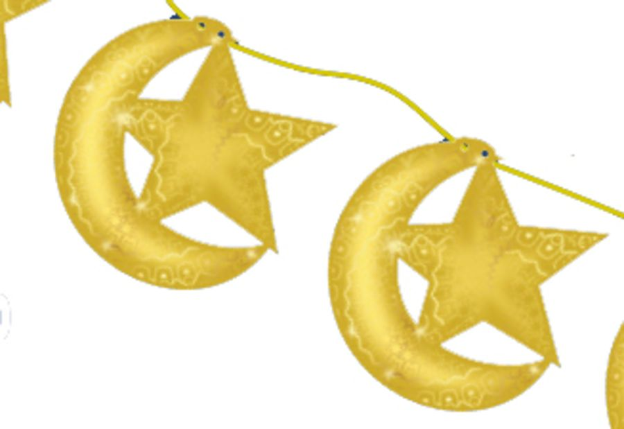 Hanging Moon And Star (Gold) 2019
