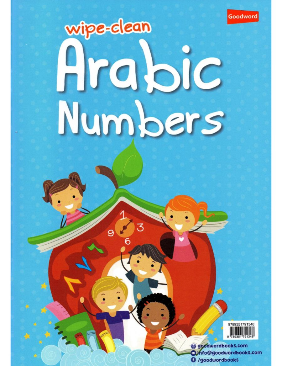 Wipe-clean Arabic Numbers