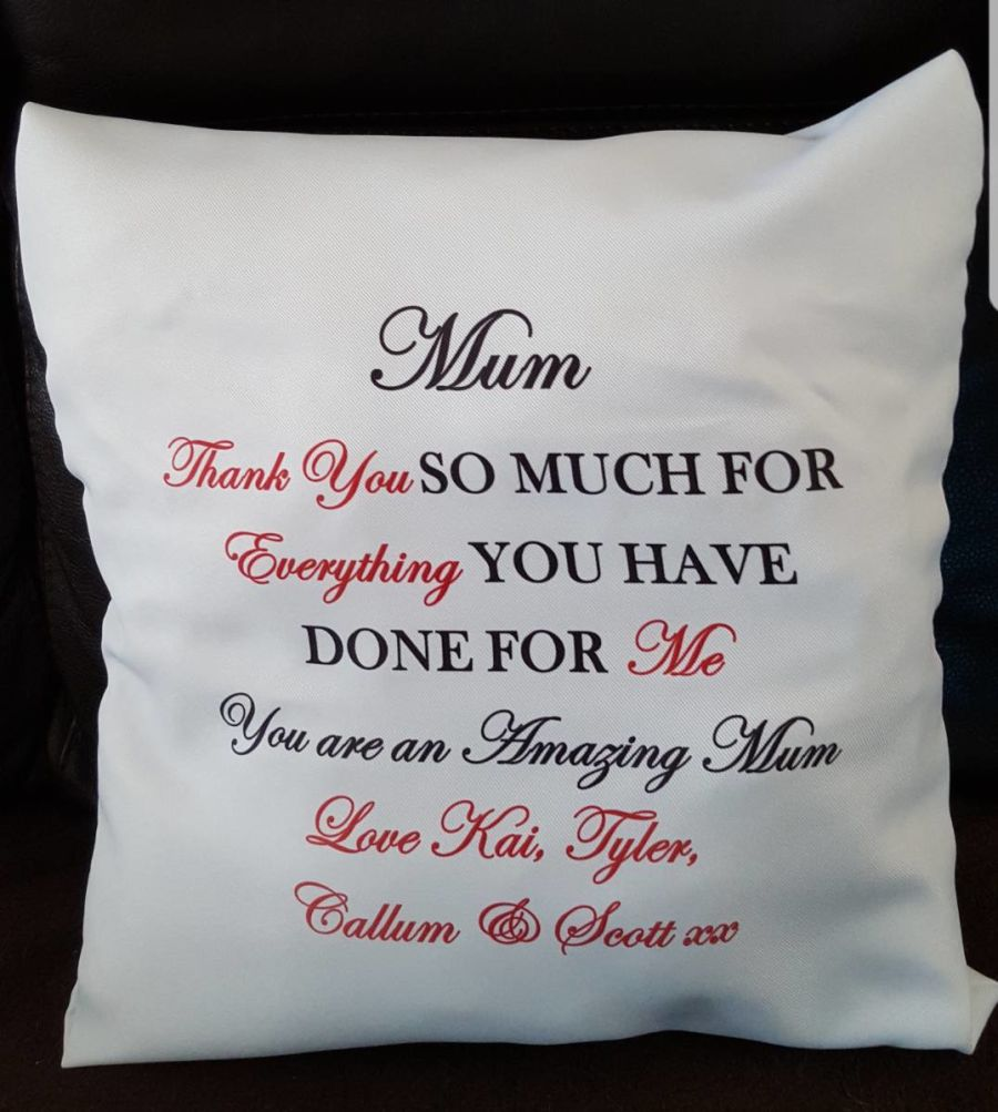 Personalised Cushion With Filling
