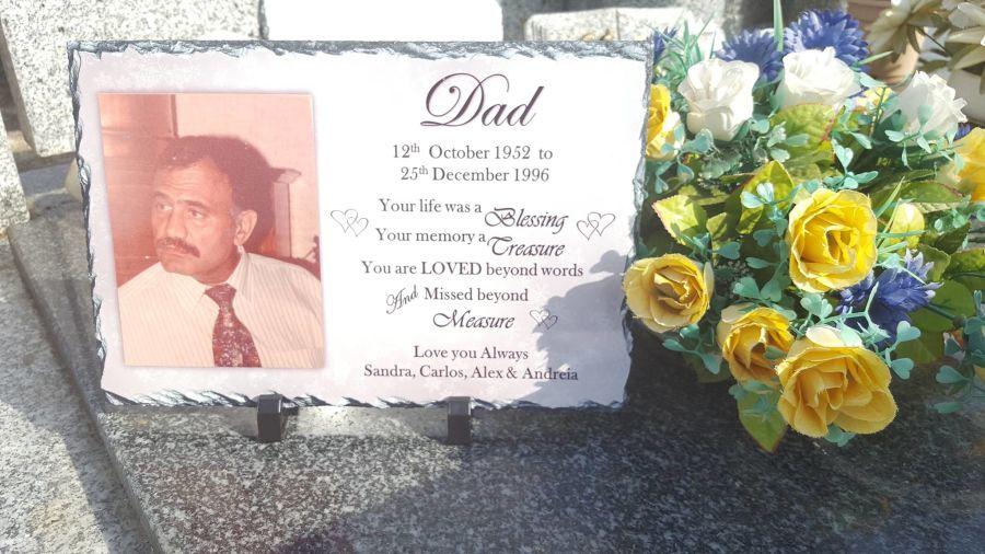 Personalised Memorial Slate