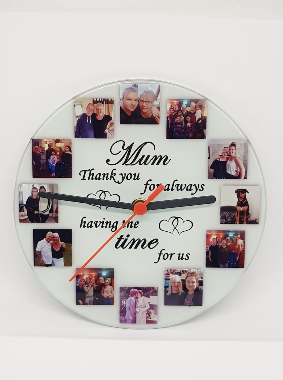 Personalised Glass Wall Clock