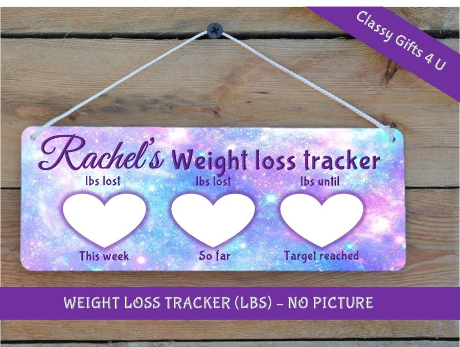 Weight Tracker plaque