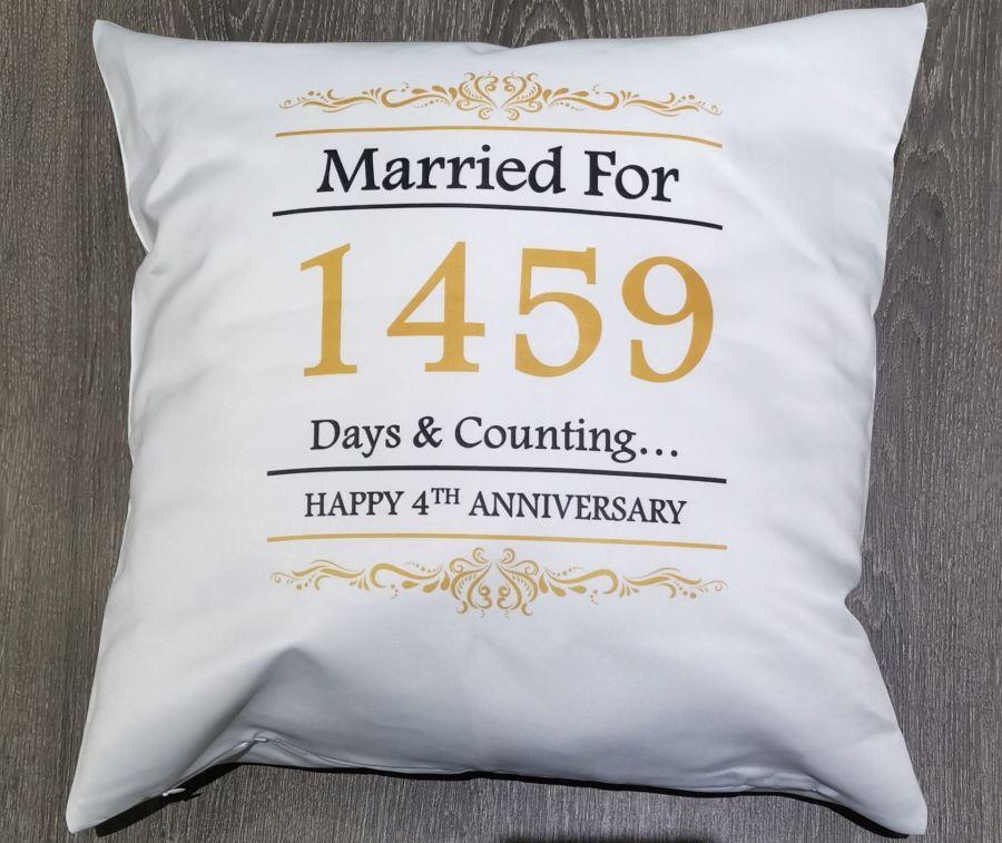 Personalised Cushion Anniversary
