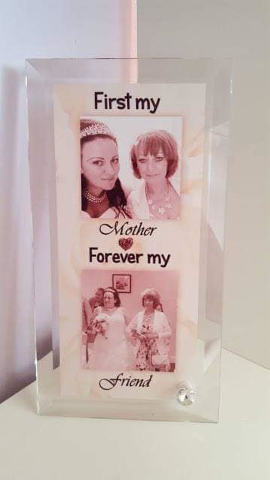 Glass Block Frame – First my Mother - Forever my Friend