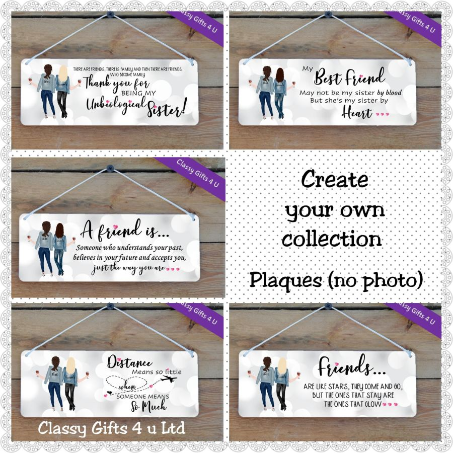 Create your own Plaque (no photo) - Personalised Best Friends