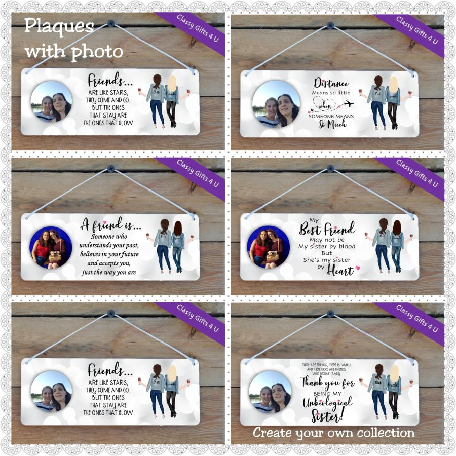 Create your own Plaque (with photo) - Personalised Best Friends