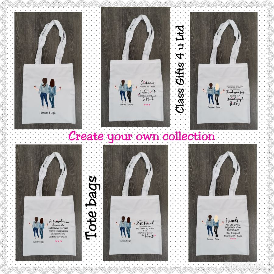 Create your own Tote Bag - Personalised Best Friends