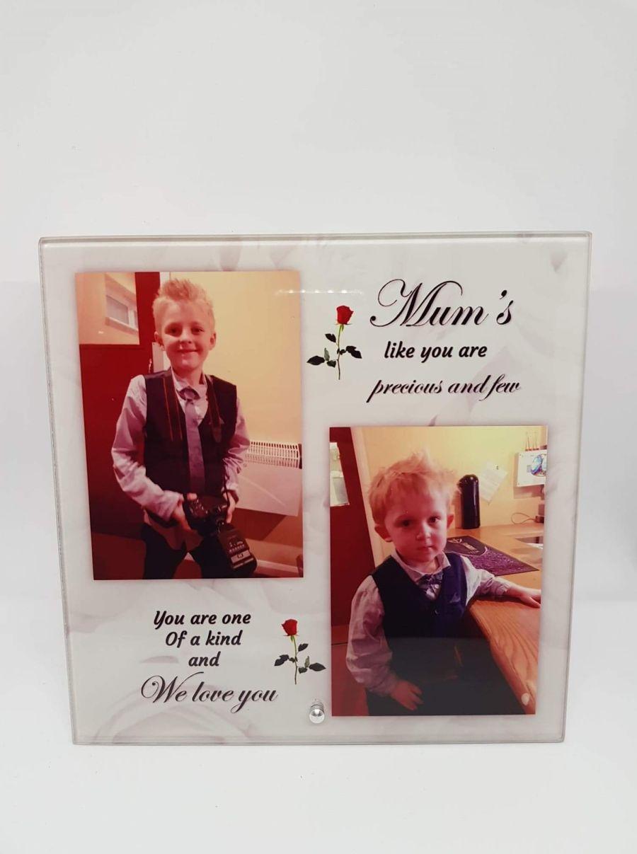 Glass Frame – Mums Like You Are Precious And Few (Square)