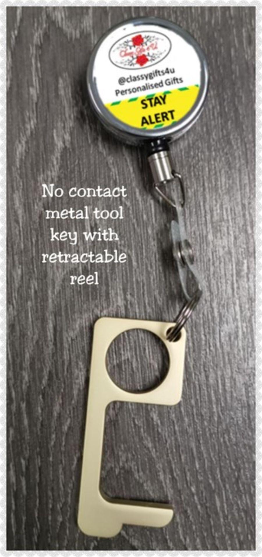 Retractable no contact metal tool key