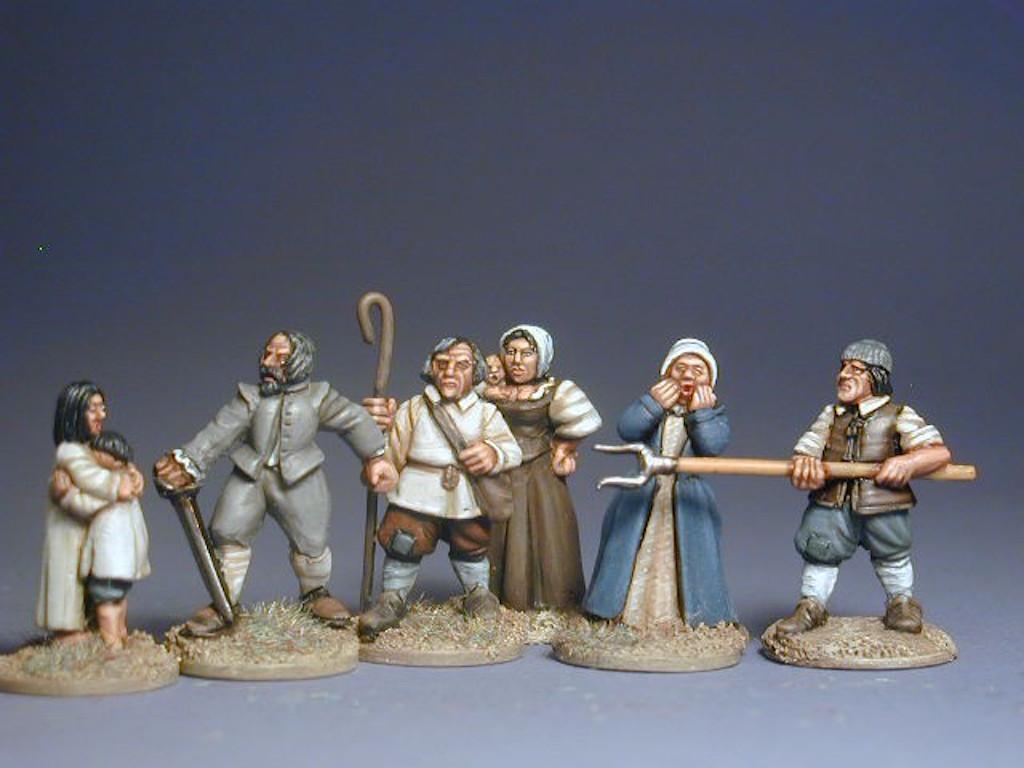 6 foot figures- unpainted Border Reivers Irish in trews with Arquebus